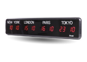 Digital Time Zone Clocks